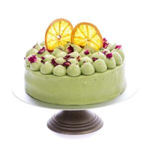 Matcha Orange Cake-Sugar free Low Carb-Keto-Diabetic-Gluten free