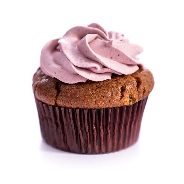 Strawberry Cream Cupcake-Gluten Free-Vegan-Eggless-Dairy free-Coconut sugar